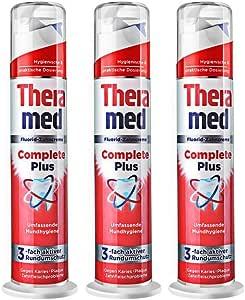 【进口 | 套装】THERAMED德国汉高 按压立柱式牙膏100ml*3(红色) 超感美白