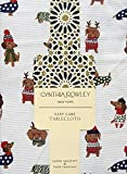 Cynthia Rowley Easy Care Holiday Sweater Dogs Tablecloth, 52-by-70 Inch Oblong Rectangular