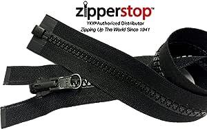 ZipperStop 批发 YKK - Vislon 夹克拉链双面滑动式 YKK #5 模塑塑料分离端颜色 黑色 美国制造 - 定制长度 580 Black 16 英寸 0000112