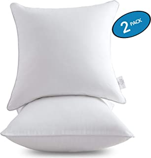 "MoMA 枕芯(2 件套)- 抱枕枕芯 * 纯棉套 - 方形内部沙发枕芯 白色 22"" x 22"" ,2 Pack"