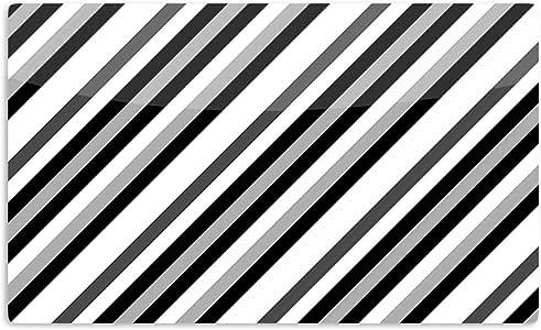 "KESS InHouse Trebam""Kos"" 灰色对角线艺术铝磁铁,5.08 厘米 x 7.62 厘米,多色"