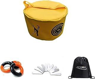 POSMA HB010R 高尔夫击球包挥杆冲击力功率散球包训练套装带重量功率挥杆红色和黑色(3 件) + 铅重胶带(10 件) + 束袋手提袋