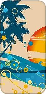 智能手机壳 透明 印刷 对应全部机型 cw-1191top 套 椰子树 palm tree UV印刷 壳WN-PR495374 Xperia Z5 501SO 图案C