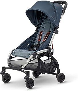 Quinny LDN 轻巧紧凑可躺式婴儿车,适合 0-3.5 岁儿童,单手携带带 - 石墨扭曲,7.6公斤