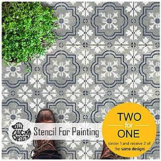 Marbella 瓷砖模板用于墙壁和地板油漆 | 可定制尺寸 30 cm (6 tile repeat)