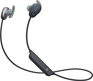 Sony 索尼 WI-SP600N 高级防水蓝牙无线超低音运动入耳式6小时播放耳机/麦克风(黑色)