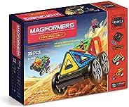 Magformers 汽车赛车套装(39 块)磁性积木,教育磁性瓷砖套件,磁性建筑 STEM 套装包括轮子