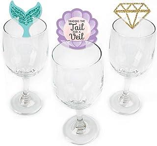 Trading The Tail For A Veil - 美人鱼单身女郎或新娘淋浴酒杯马克笔 - 24 件套