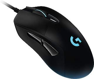 Logitech 罗技 G403 HERO 16K 游戏鼠标(LightSync RGB,重量轻87克,可选10克重量,编织电缆,16.000 dp,德国包装,东欧)