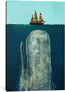 """iCanvasART 1 Piece The Whale Canvas Print by Terry Fan, 12"""" x 8""""/0.75"""" Depth"""