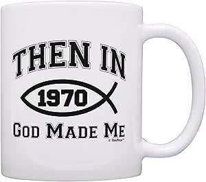 50 岁生日礼物 Then In 1969 年God Made Me 50 岁生日礼物 B 天咖啡杯茶杯 多种颜色