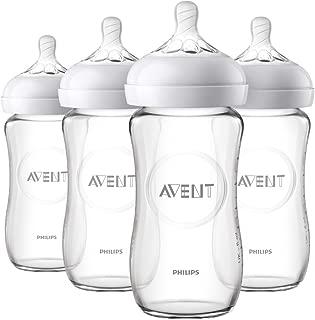 Philips AVENT 飛利浦 新安怡 天然玻璃嬰兒奶瓶,8盎司/約227.3毫升,4個裝,SCF703 / 47