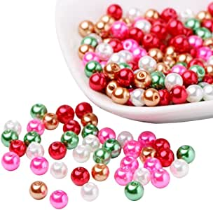 UnCommon Artistry 玻璃珍珠混合物(200 颗 4 毫米和 6 毫米)(100 颗 8 毫米) 圣诞节 6 GPMix