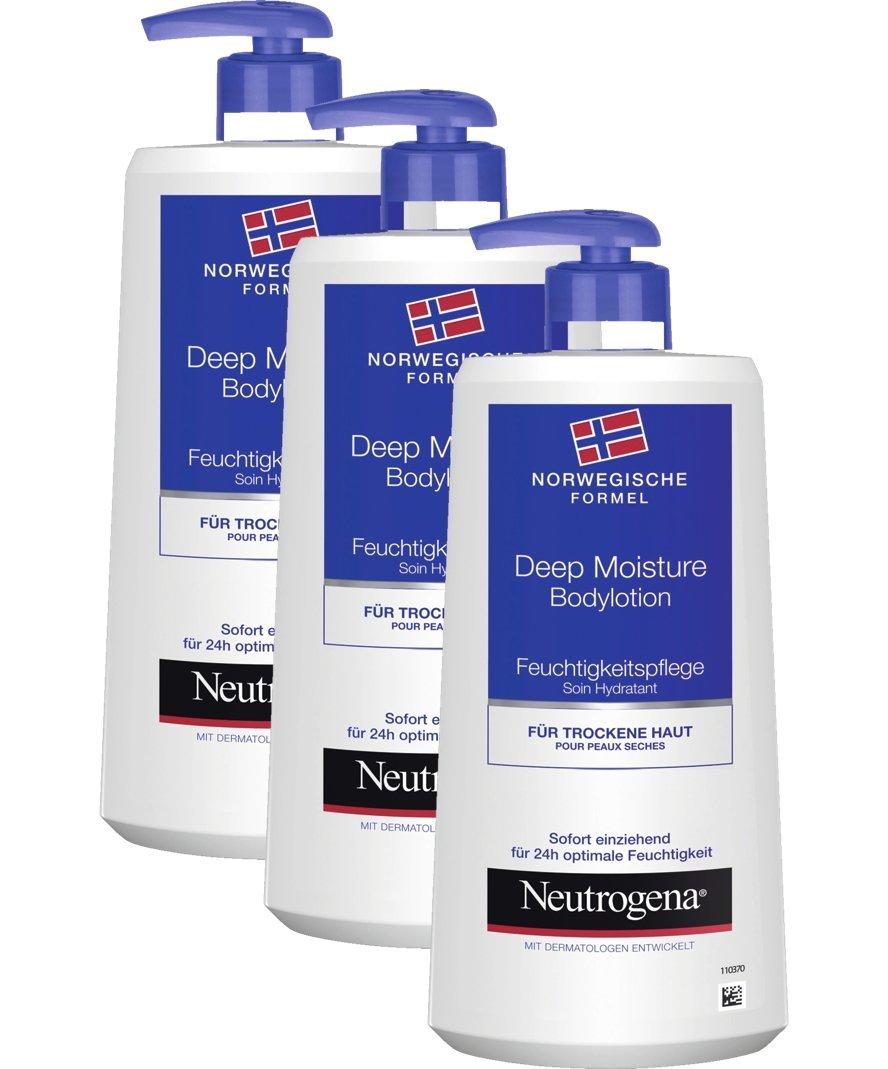德亚海外购-Neutrogena 露得清 挪威配方系列 深层保湿身体乳400ml*3瓶装