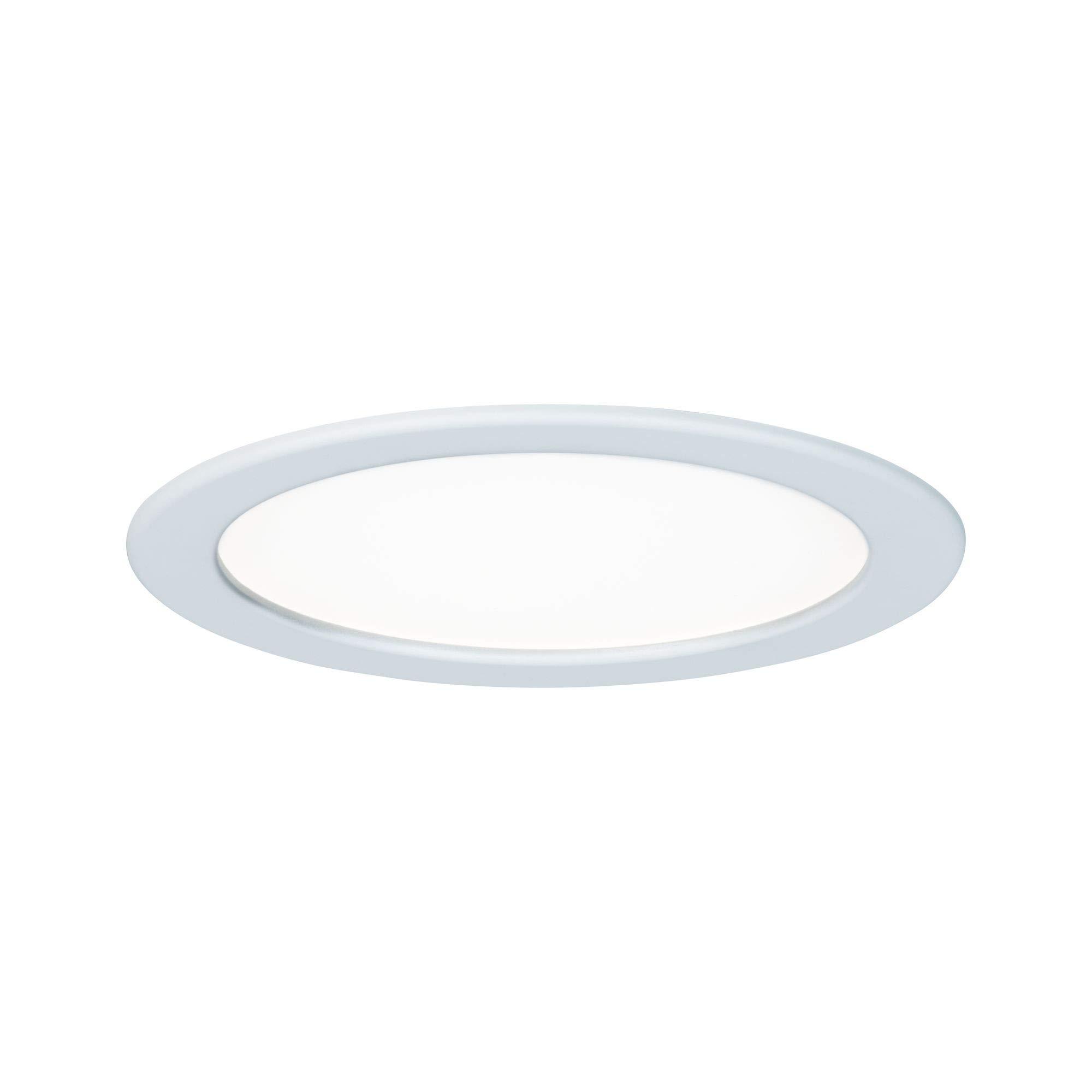 Paulmann Paulmann Leuchten Paulmann 92060 安装面板圆形吸顶灯 18W 光 4000K 中性白 LED 面板白色 IP44 防溅水 包括灯具安装灯,塑料,18 W