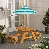 KidKraft 户外桌,带长凳和雨伞
