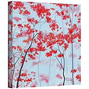 ArtWall Herb Dickinson 'Red Forest' Gallery-Wrapped Canvas Artwork, 14 by 18-Inch