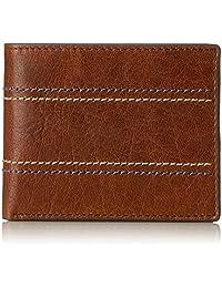 Fossil 男士钱包  Reese RFID 双折 棕色 9.53x1.91x11.43 厘米