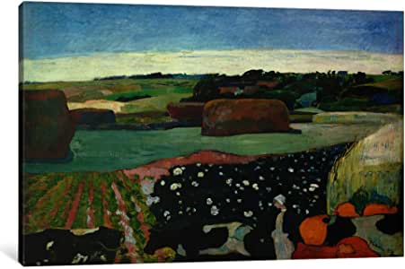 iCanvasART 1898-1PC3-26x18 Haystacks in Brittany Canvas Print by Paul Gauguin, 0.75 x 26 x 18-Inch