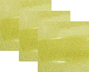 25.4 厘米 x 30.48 厘米 (2.54 厘米) 3 张,Siser 闪光熨烫热转印乙烯基 HTV T 恤 Gold-Confetti D3P-SIG-Gold-Confetti