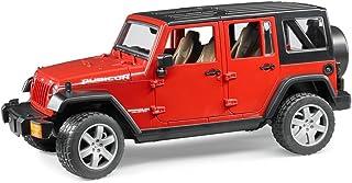 Bruder Jeep Wrangler 无限制橡胶带拖车和 CAT 滑雪转向器 02525 - Jeep only