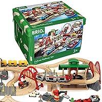 BRIO World 33052 兒童玩具 街道 火車鐵路豪華套裝 — BRIO鐵路帶游戲墊 幼兒玩具 推薦3歲+