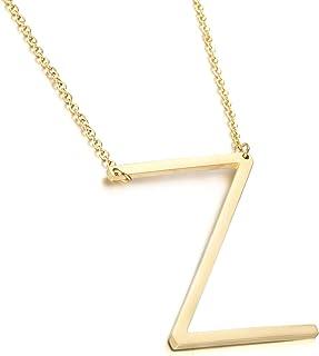 Joycuff 金色项链女士大字母吊坠首字母从 A 到 Z 26 个字母18K 金首饰生日礼物送给女儿青少年女孩妈妈姐妹*好的朋友