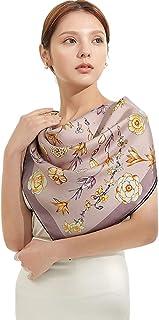 Jeelow 丝巾 女式桑蚕布 Oblong 16 姆米手工卷边丝巾
