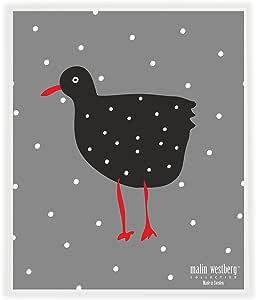 Trendy Tripper Swedish Dishcloth,Malin Westberg 可重复使用 - 鸡母鸟设计 - 3 种不同设计 Tuppar, Heart, Country Flower (He) 並行輸入品