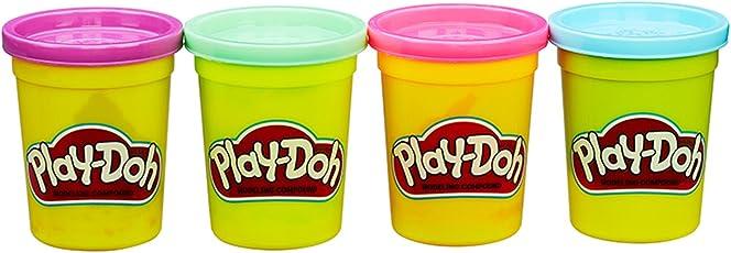 Hasbro 孩之宝 Play-Doh 培乐多彩泥 四色装新版 (紫绿粉蓝) B6510