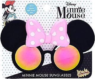 官方*迪士尼米妮粉色蝴蝶结太阳镜,粉红色波尔卡圆点服装派对喜爱儿童阴影 UV400