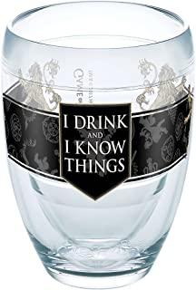 Tervis 1265634 《权力的游戏》 - House Lannister 玻璃杯带包装,236.56 毫升无*杯,透明