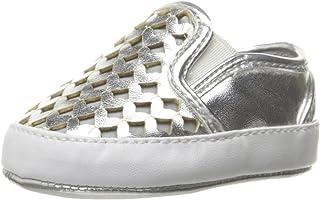 Nine West Debslipon 儿童乐福鞋 银色 1 M US Infant