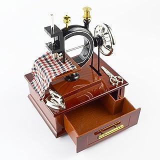 Saim 古董外观迷你缝纫机机械音乐盒