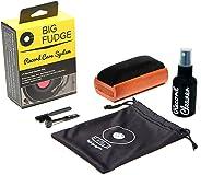 #1 记录清洁套件 - 完整的 4 合 1 乙烯基清洁解决方案,包括天鹅绒记录刷、XL 清洁液、手写笔和旅行袋! 不会划伤您的录音!