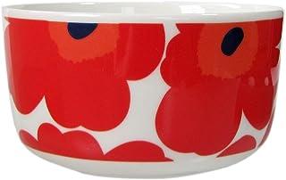 marimekko UNIKKO 碗 白色×红色 12.5cm 500ml 63433 001 【平行进口】 63433 001