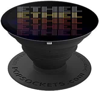 图案 365 名字 Ethel 复古图案 复古风格 PopSockets 手机和平板电脑260027  黑色