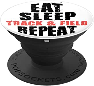 Eat Sleep Track & Field Repeat 激励礼物 ACE072c PopSockets 手机和平板电脑握架260027  黑色