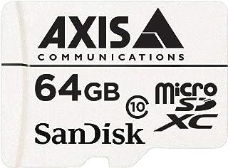 Axis Communications 5801-961 *设备64 GB MicroSDXC Class 10 闪存卡带 SD 适配器 - 白色(10 件装)