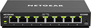 NETGEAR 千兆以太网智能托管增强交换机GS308E-100UKS 8 Port