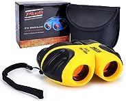 儿童双筒望远镜,HITOP 8x21 小型望远镜防震双筒望远镜,适合观鸟、户外露营、送给3-12岁男孩和女孩的*佳礼物 黄色