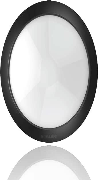 ROBLAN ledfplfo8wf 壁灯天花板灯,8 W,黑色