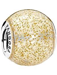 Pandora 潘多拉 丹麦品牌 金色闪烁球形925银+珐琅串饰 796327EN146
