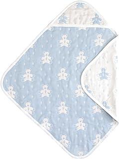 Souleiado 6层纱布抱被方巾 蓝色