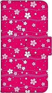 智能手机壳 手册式 对应全部机型 印刷手册 wn-162top 套 手册 樱花 樱花 花 花 树 UV印刷 壳WN-PR054090-ML AQUOS SH-M02 图案 A