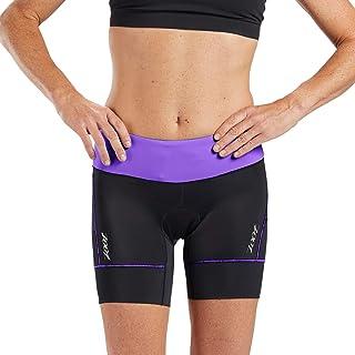 Zoot Core 女士 6 英寸三条短裤 - 高性能铁人三项短裤耐力面料臀部皮套口袋