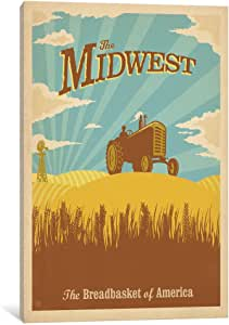 iCanvasART ADG203 American Series: ASA-Midwest by Anderson Design Group Canvas Print, 18 by 12-Inch, 1.5-Inch Deep