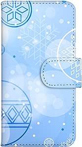 智能手机壳 手册式 对应全部机型 印刷手册 wn-239top 套 手册 滑雪图案 UV印刷 壳WN-PR061395-MX AQUOS Xx2 502SH B款