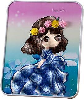 BengLiu 水晶 5D DIY 钻石绘画套件 儿童节日礼物 儿童绘画 数字套件 刺绣绘画 (蓝色)