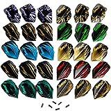 Ignat Games 30 件飞镖飞行 - 10 套不同标准形状飞镖飞行和 6 个飞行保护器,飞镖配件套件